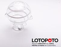 LOTOPOTO figura colección en vidrio