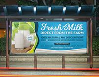 Farm Fresh Milk Billboard Template