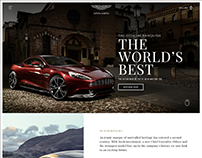 Aston Martin Web Design
