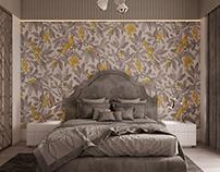 Classic bedroom vizualization and design
