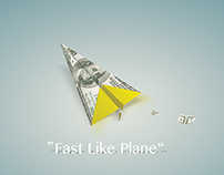Western Union, fast like plane.