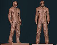 3D Old Man Sculptures