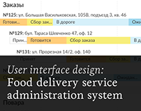 Food delivery service administration system