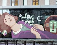GLASS-WALL Mural Art Linz/Austria 2016