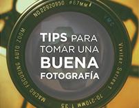 Brochure - Tips para tomar una buena fotografía