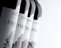 Gioinos (Γη~οίνος, Earth and Wine) Wine Label Design