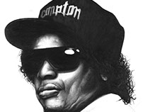 Eazy E Freehand Pencil Sketch.