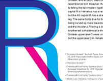 Typeface Comparison: Akzidenz Grotesk & Helvetica Neue