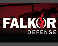 Falkor Defense Logo and Branding