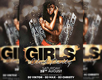 Girls Club Party - Club A5 Template