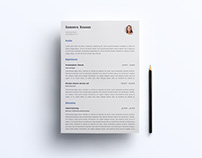 Free Simple Resume and Cover Letter Template