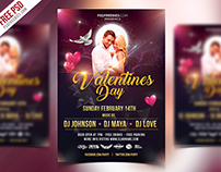 Valentines Day Flyer Design Free PSD