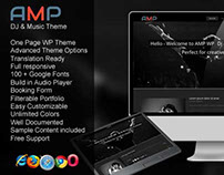 AMP WP DJ Music Wordpress Theme