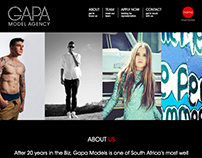 Modeling Agency One Page Scrolling Website