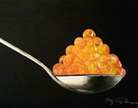 """La vida a cucharadas"" pastel drawing"