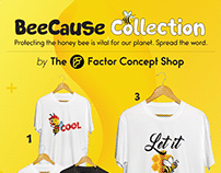 20x Tshirts Graphics for BeeCause Collection