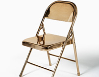Solid Cast Bronze Unfolding Chair
