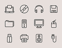 Computer Vector Icons – Part 01