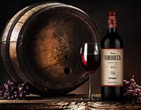 "Wine Label Redesign: ""Viña Turquesa""(Pedro Moreno 1940)"