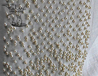 1500 FRESHWATER PEARLS ON PURE LINEN