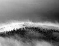 a ravine (산협, 山峽)