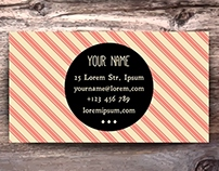 Business Card Templates in Vintage Style