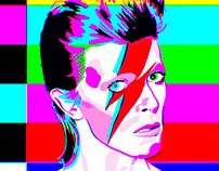 'Aladdin Sane' David Bowie Test Card