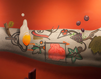 Brots restaurant · Spray painted mural