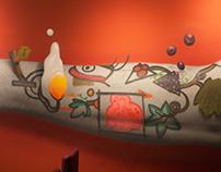 Brots restaurant · Spray painted mural