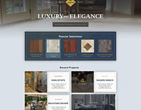 Chartier Ceramic Tile Website Homepage Design