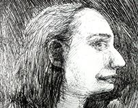 Portraits in ballpoint pen