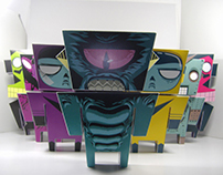 SERIE 1 PAPER TOYS