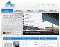 AlexSteel - Corporate website design