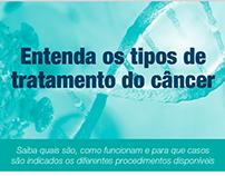 Infográfico - Tipos de tratamento do câncer