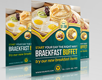 Breakfast Restaurant Flyer Template