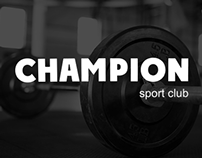 Landing page for sport club Champion