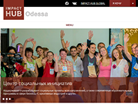 Impact Hub Odessa website
