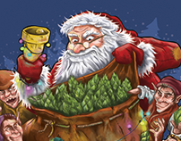 Wychwood Brewery - Santa's Goliath Sack Illustration