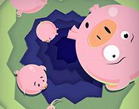 Falling Pigs