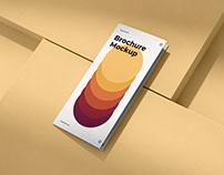 Brochure Mockup Scenes DL Bi-Fold