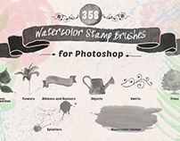 Watercolor PS Stamp Brushes - with a free sample