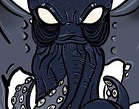 Kraken/ kuthulu drawing.