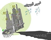 bombing raid Corona attack