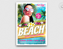 Beach Party Flyer Template V4