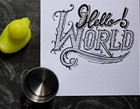"Hand Lettering Step by Step ""Hello World"""