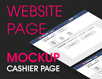 Website Page Wireframe- Cashier Page