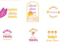 Hawaii Aloha Travel Logos