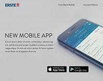 Erste Bank Landign Page