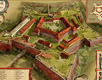 Fortress of Oradea - historical illustration