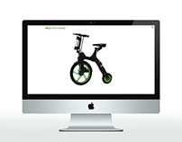 E-dynamic bike Shopify store design ad build.